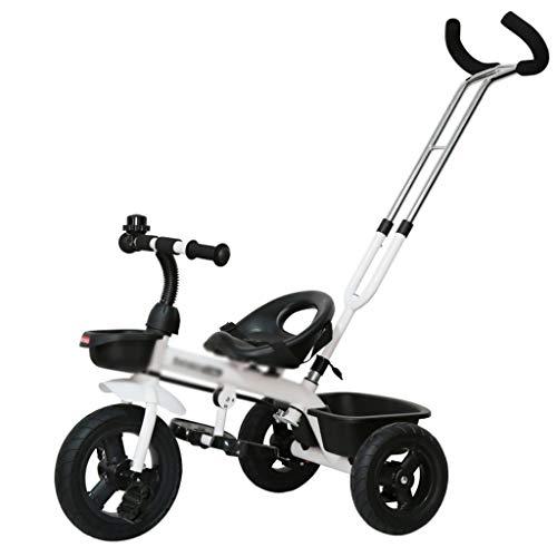 Bebé Niños Niños Niños pequeños Triciclo Desmontable Paseo en Bicicleta Trike Pedal Bicicleta 3 Ruedas 2-5 años (Color...