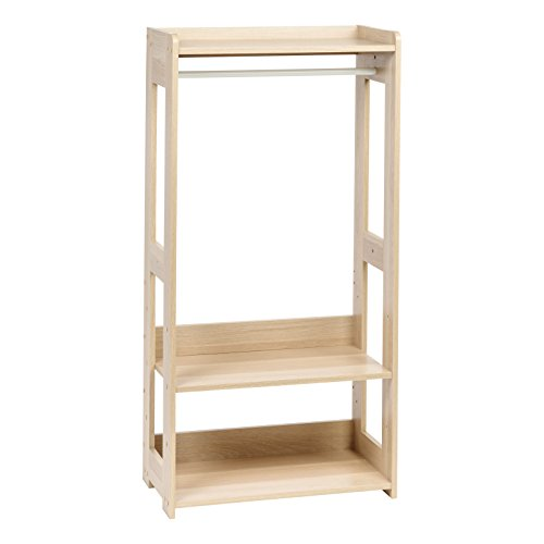 IRIS USA KWR-LB Kid's Dress Up Clothing Garment Rack, Natural