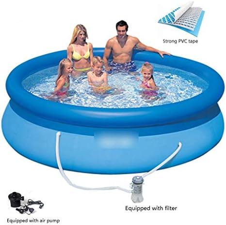 インフレータブルプール スイミングプール/ラウンドインフレータブルプール/夏水パーティーのための子供のプール インフレータブルラウンジ (Color : Blue, Size : 396*48cm)