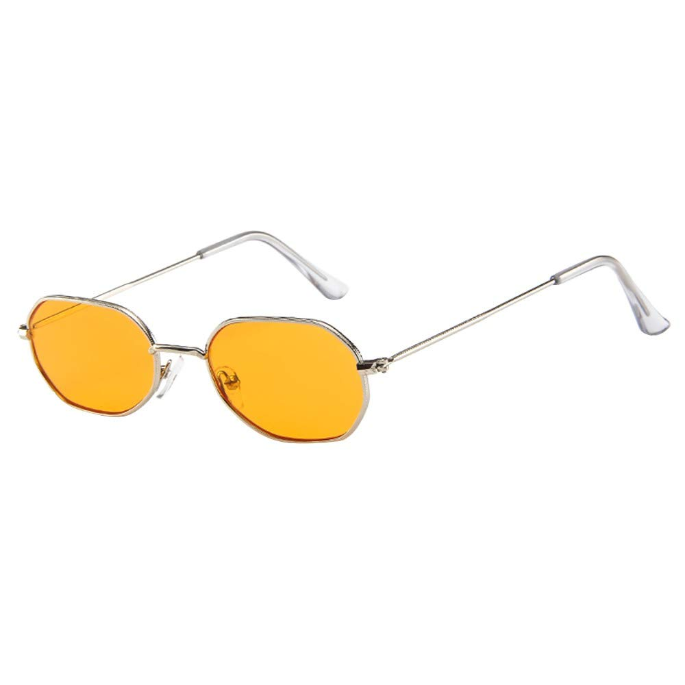 COGIGI Women Men Vintage Retro Glasses Unisex Small Frame Sunglasses Eyewear