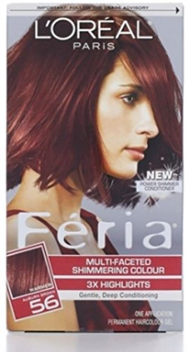 L'Oreal Feria Permanent Haircolour Gel 56 Brilliant Bordeaux - Auburn Brown