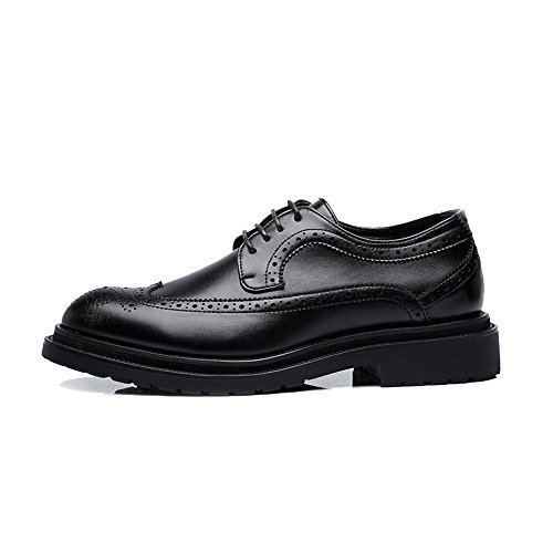 Lace Business Primavera 2018 da Up Estate Scarpe Fang uomo Oxfords 40 EU shoes Decoration Color Wingtip Marrone Leather PU Nero Dimensione traspirante Outsole Upper Brogue 7xEwqC8C