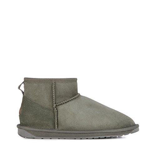 (EMU Australia Womens Stinger Micro Winter Real Sheepskin Boots Size 8 Charcoal )