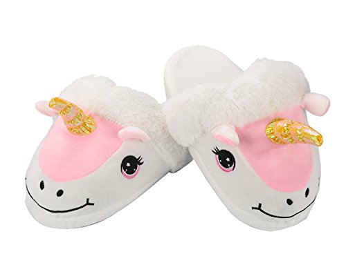Unicorno Migliore Regali Morbido Cosplay E Adulti Bianca I Rosa Pantofole Scarpe bianco Halloween Per Bianco Felpa Costume TqRAUWwTr