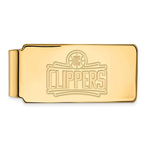 Los Clippers Silver Official Sterling Plated Angeles Clip Basketball LogoArt Yellow Licensed 14K NBA Money w Gold q4nOwqPz