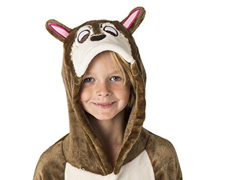 3 Chipmunks Costume (Unisex Pajamas Costume Chipmunk Onesie for Kids (Small))