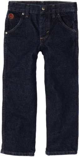 Wrangler Little Boys' Relaxed Fit No 22 Jeans, Stone Dark Denim, 3T Slim Blue Kids Jeans
