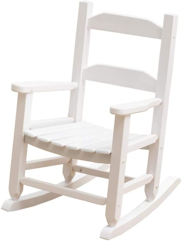 B&Z KD-21W Child's Rocking Chair Porch Rocker Wooden Classic Indoor Outdoor Age 3-6