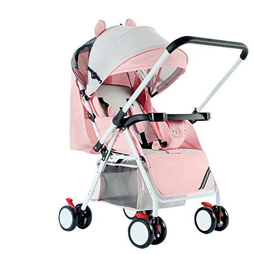 C+Q Lightweight Travel Baby Stroller Pram, Compact Convertible Luxury Pushchair Baby Carriage, Oversized Storage Basket, Blanket Boot, for Newborn and Toddler,5