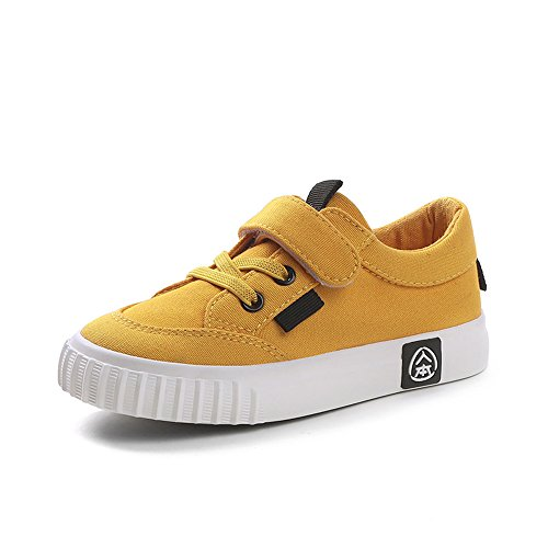 Shoe Bowling Yellow (RENBEN Toddler Shoes Girls Walking Casual School Tennis Athletic Canvas Shoes)
