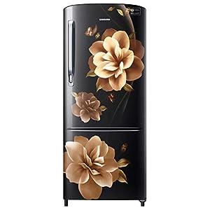 Samsung 192 L 3 Star inverter Direct Cool Single Door Refrigerator (RR20A272YCB/NL, Camellia Black)