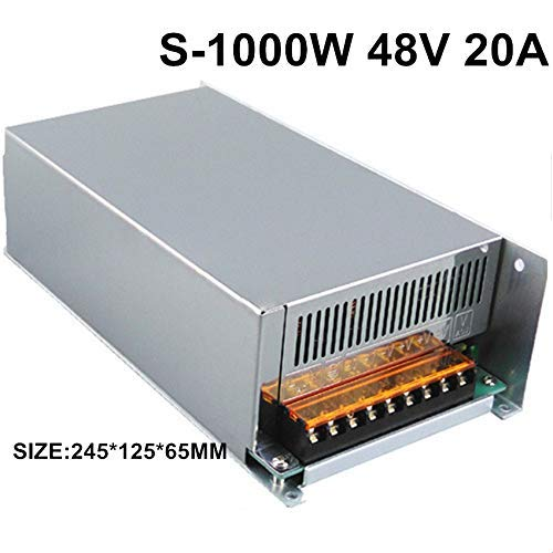 48V 20A 1000W Upgrade Switch Power Supply Driver Display Switching Power Supply 48v for LED Strip Power Driver CCTV Camera (48 Volt Driver)
