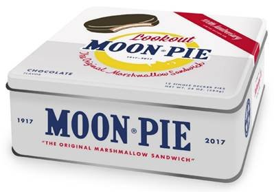 Moonpie Single Decker 100th Anniversary Collectible Tin (12 count) (Chocolate) ()