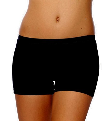 SEVIM Women's 3 Pack Comfortable Cotton Bike Yoga Boxer Brief Boyshort X-Small Black