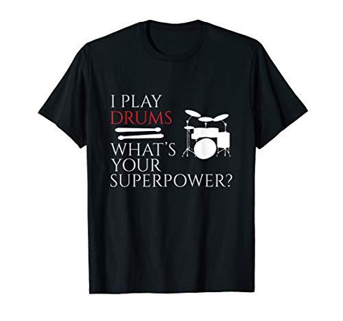 I Play Drums Funny Drummer T-Shirt Drumming Shirt T-Shirt