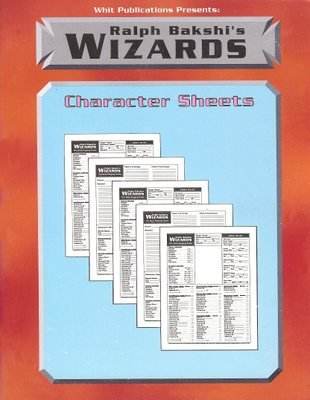 Ralph Bakshi's Wizards Character Sheets (WPI 3005)