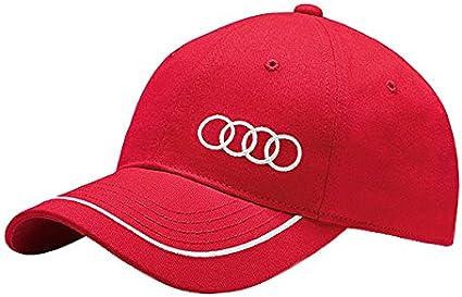 Audi 3131400910 Gorra Unisex, Rojo: Amazon.es: Coche y moto
