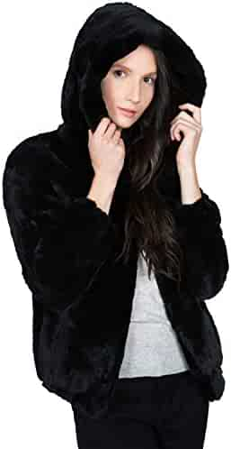 3db0118b6 OBURLA Women's Real Rex Rabbit Fur Hooded Jacket | Soft, Luxurious and Warm  Winter Coat