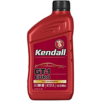 Kendall 1078251-12PK Euro Motor (GT-1 Full Synthetic Oil 5W30-1 Quart), 32. Fluid_Ounces, 12 Pack