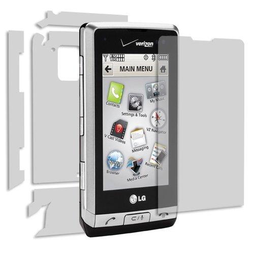 (LG Dare Screen Protector + Full Body (VX9700), Skinomi TechSkin Full Coverage Skin + Screen Protector for LG Dare Front & Back Clear HD Film)