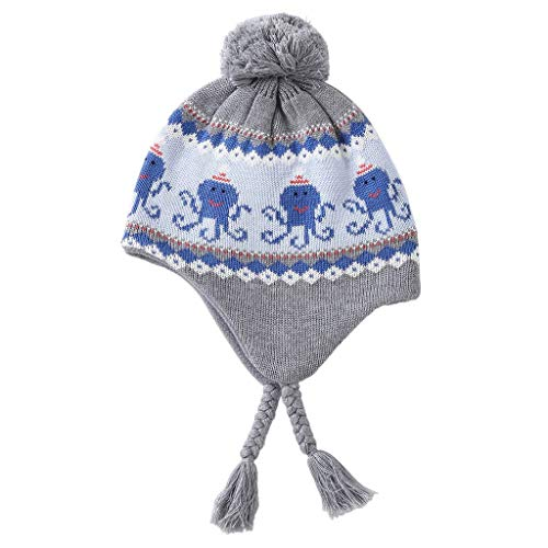 Home Prefer Boys Toddlers Kids Hats with Earflaps Warm Skull Beanie Hat with Fleece XL by Home Prefer (Image #2)