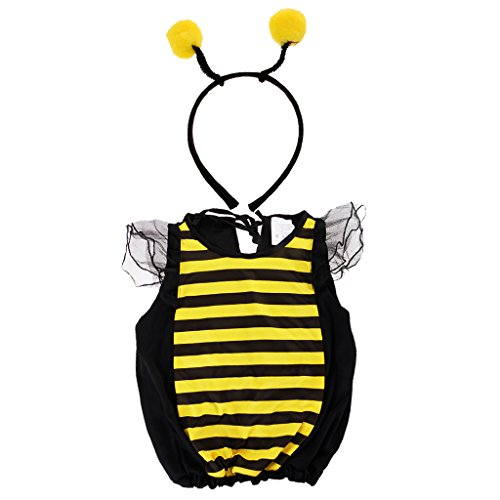 Honey Bee Outfit (MonkeyJack Halloween Bumble Bee Headband Honey Bee Costume Dressing Cosplay Insect Outfit - M)