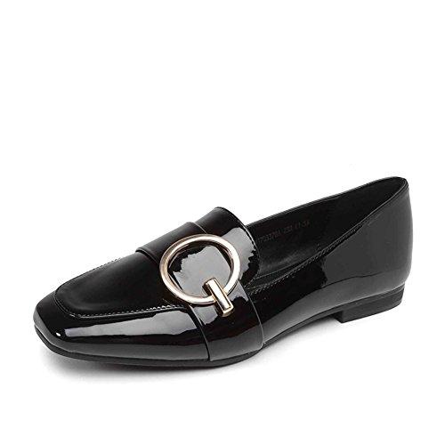PUMPS Lady Kitten Heel,Square Toe Schuhe,Tief eingeschnittenen Dünne Schuhe-A Fußlänge=22.8CM(9Inch)