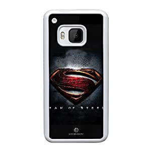 Generic hard plastic Superman Logo Cell Phone Case for HTC One M9 White ABC8354663