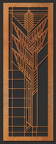 Frank Lloyd Wright Dana Thomas House Sumac Art Glass Wall Element by Lightwave Laser