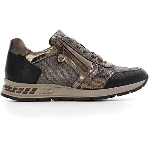 Autunno In Blu 2019 Bronzo Donna Pelle A806422d Nero O Giardini Sneakers Scarpe Inverno qvwppR