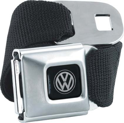 Brand New Officially Licnesed Black Volkswagen Seatbelt Belt, One Size Fits Most (Volkswagen Belt compare prices)