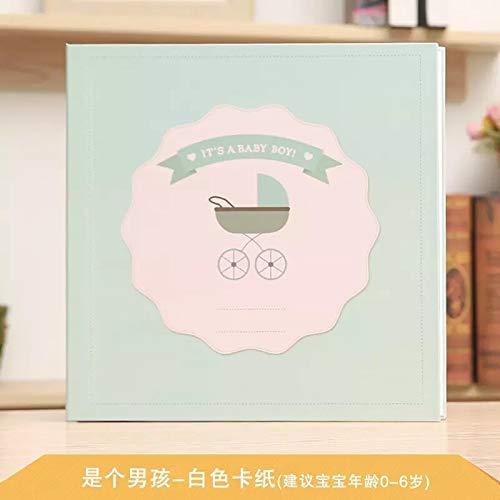 X-CRAFT Handmade Baby Book 2018 New Photo Album, Self Adhesive Handmade Baby Handbook, Baby Growth Record, Baby Making Film Book. by X-CRAFT