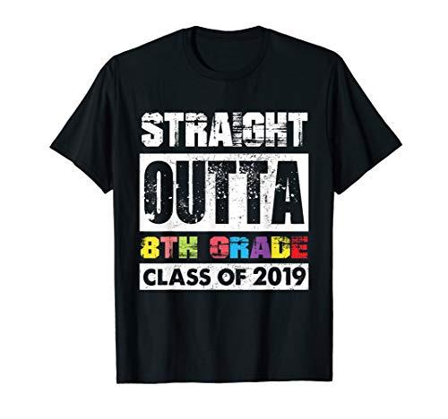 Straight Outta 8Th Grade Shirt Class Of 2019 Graduation Gift ()
