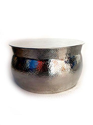 Silber Loungetisch Beistelltisch Wohnzimmertisch Leela Klein Amazonde Kche Haushalt