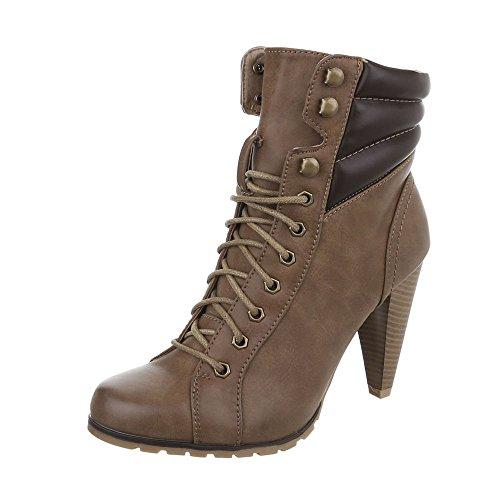 Zapatos para mujer Botas Tac—n de aguja Botines de tac—n Ital-Design bronzage