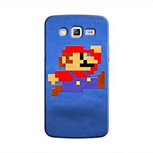 Cover It Up - Mario Pixelated Blue جالاكسي جي 2 Hard Case