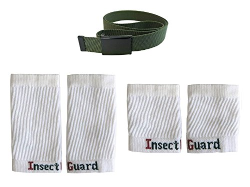 InsectGuard Permethrin Treated Tick & Mosquitoes Insect Repellent Complete Package 3 - GW74 (Gree/White) One Size Fits All Up To Adult Large