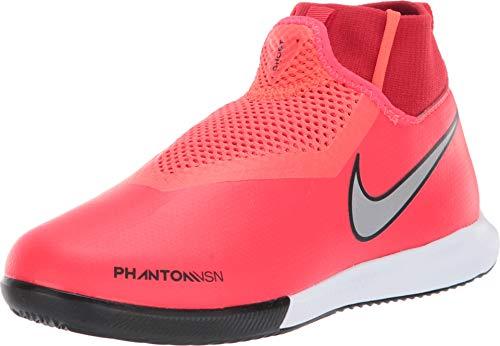 Nike Kids' Phantom Vision Academy Dynamic Fit Indoor Soccer Shoe (6 M US Big Kid, Crimson) (Womans Nike Indoor Soccer Shoes)