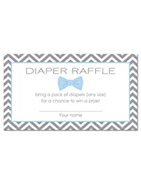 48 Bow Tie Baby Shower Raffle Cards (Blue) BOBEBE Online Baby Store From New York to Miami and Los Angeles