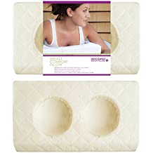 Descansa Breast Comfort Pillow, Memory Foam, Ivory Case, Large size, Improved, Best Comfort and Massage Therapy
