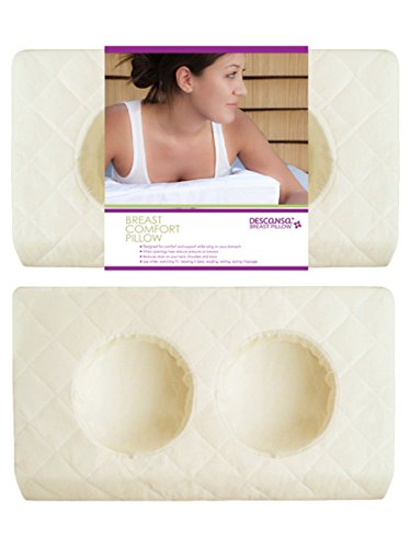 Descansa Breast Comfort Pillow, Memory Foam, Ivory Case, Lar