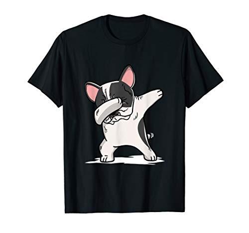 Pied French Bulldog (Pied French Bulldog Dabbing T-Shirt Frenchie Dog Dab Shirt)