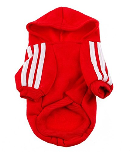 Daisy Duke Costumes Adults (Winter Cute Warm Casual Coat Jacket Adidog Pet Clothes Hoodie Clothing Comfortable Cotton Blend (L, Red))