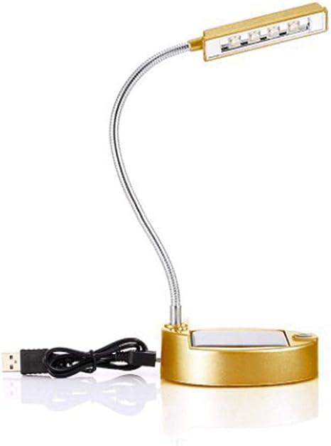 Womdee Solar Led Desk Lamp Flexible Gooseneck 4 Led Solar Or Usb Charging Writing Lamp Energy Saving Reading Light Super Bright Desk Lamp For Reading Work Or Learning Amazon De Beleuchtung