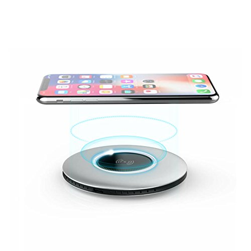 BINGONE Wireless Charger, Qi Certified T511 Wireless Charging Pad with Anti-Slip Rubber Base for iPhone 8/8 Plus, iPhone X, Samsung Galaxy S9/S9+, Note 8/S8/S8 Plus, S7/S7 Edge and Qi-Enable