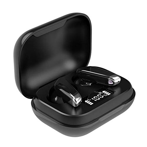 Pengxian J70 Bluetooth Wireless Earphone with Microphone Bluetooth 5.0 Chip High-Fidelity Sound Waterproof Headset in-Ear Bluetooth Headphone Includes Compact Charging Case