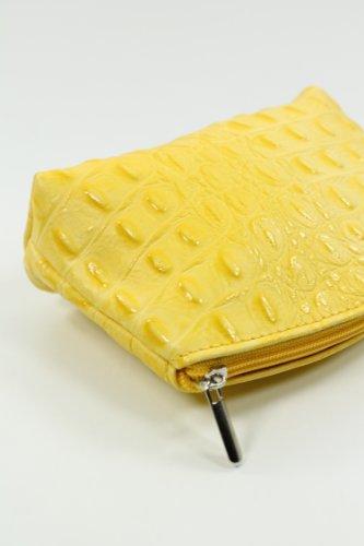 Belli - Bolso de asas de cuero para mujer amarillo amarillo