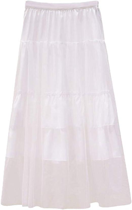 Mujer Vintage A-Line Falda Color Sólido Cintura Alta Falda Larga ...