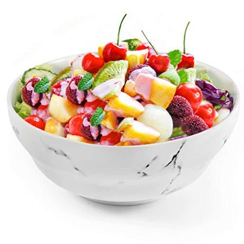 - 77L Porcelain Soup Bowls, 43.91 FL OZ (1300 ML) White Ceramic Soup/Cereal Bowls, Marble Serving Bowls Set for Soup, Ice Cream, Cereal, Salad, Pasta and More (7.92 Inches Diameter, 1PCS)