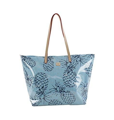 For Time Pineapple, Bolsa de Tela y de Playa para Mujer, 1 x 38 x 58 cm Azul